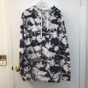 Hollister marble hoodie